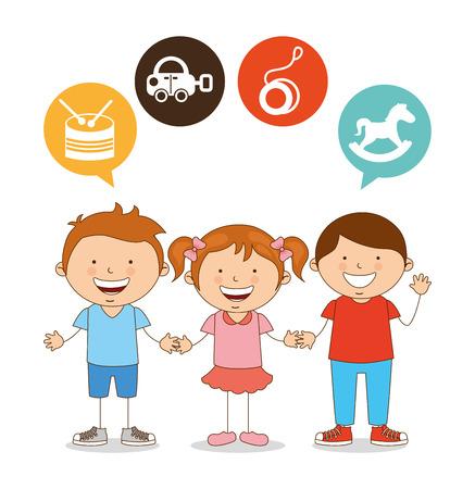 cute children design, vector illustration eps10 graphic Vector