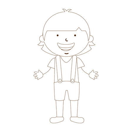 australian ethnicity: cute children design, vector illustration eps10 graphic Illustration