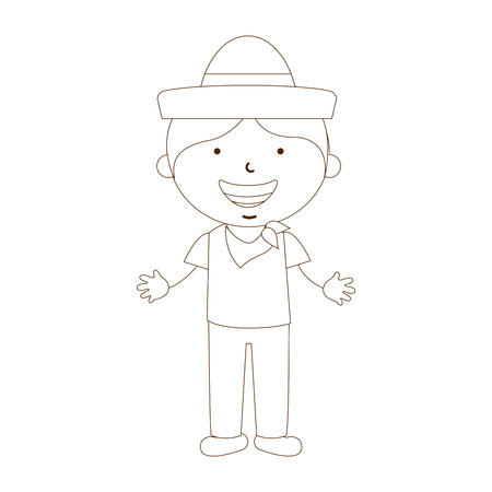mexican boys: cute children design, vector illustration eps10 graphic Illustration