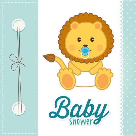 baby shower design, vector illustration eps10 graphic Vector