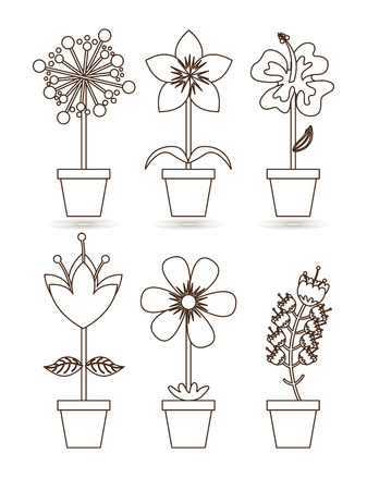 flowerpot icon design, vector illustration eps10 graphic