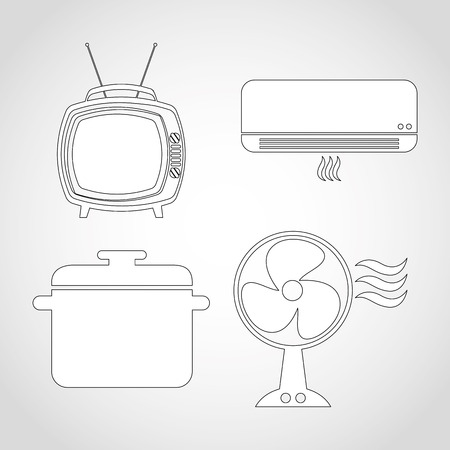 conditioned: home appliances design, vector illustration eps10 graphic