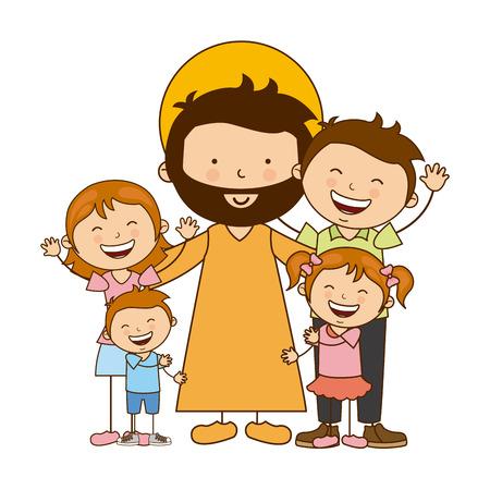 jezus: religia katolicka projektowania, ilustracji wektorowych eps10 grafiki Ilustracja