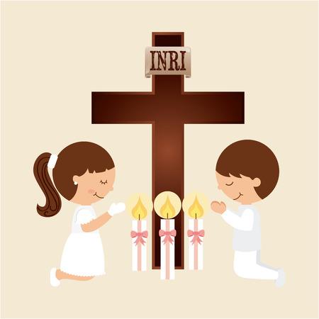 Premier modèle de la communion, illustration graphique eps10 Banque d'images - 38665287