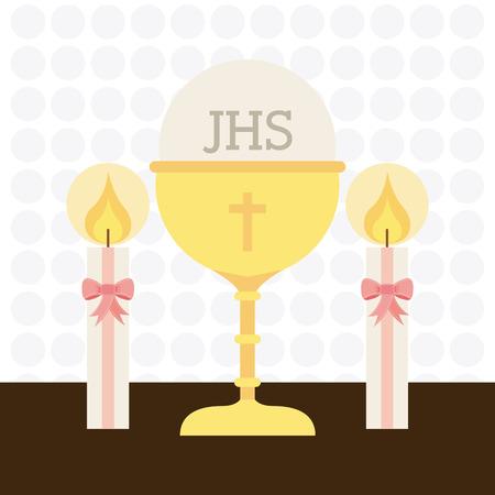 the sacrament: first communion design, vector illustration eps10 graphic