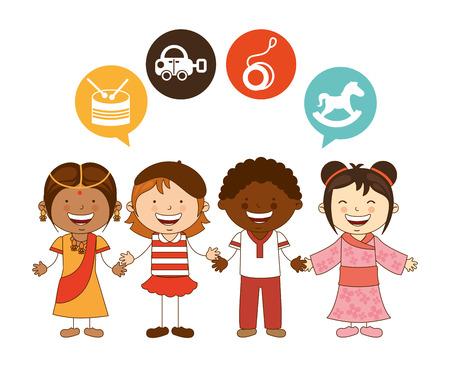 yoyo: cute children design, vector illustration eps10 graphic Illustration