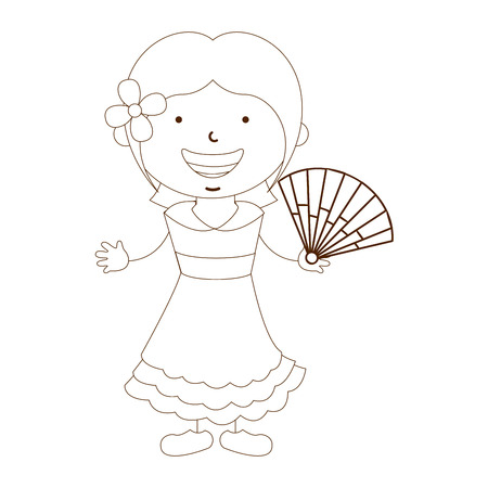ethnicity happy: cute children design, vector illustration eps10 graphic Illustration