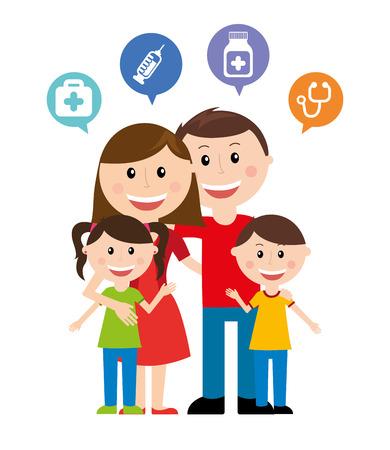 stethoscope boy: happy family design, vector illustration eps10 graphic