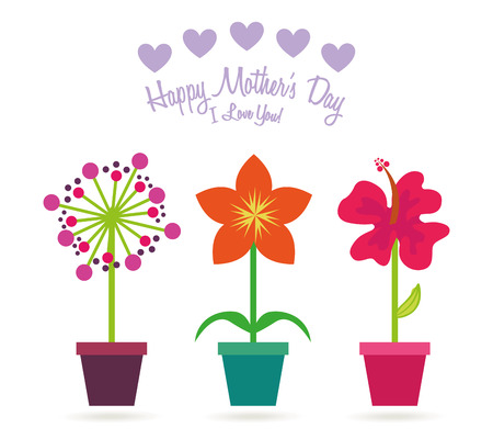 plant pot: mothers day design, vector illustration eps10 graphic