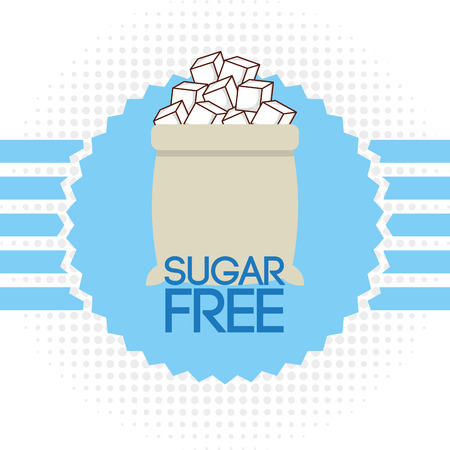azucar: diseño libre de azúcar, ilustración vectorial gráfico eps10