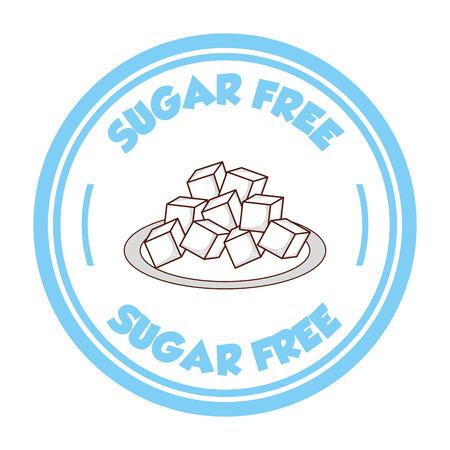 sugar free design, vector illustration eps10 graphic Vector