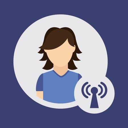 antena: user technology design, vector illustration eps10 graphic
