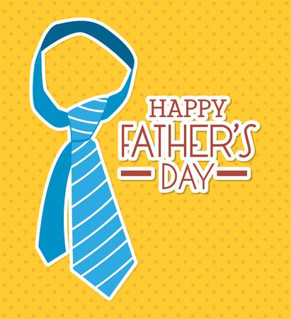 mister: Happy fathers day card  design,vector illustration. Illustration
