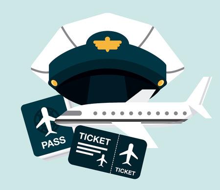 cao: pilot icons design, vector illustration eps10 graphic