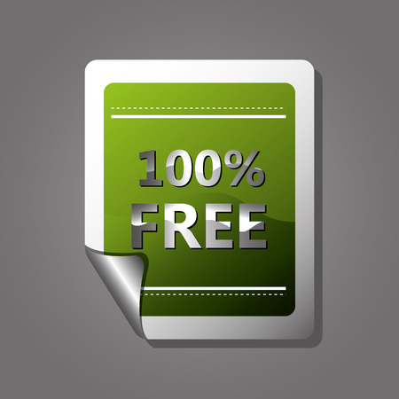premium member: Free label design over gray background, vector illustration.