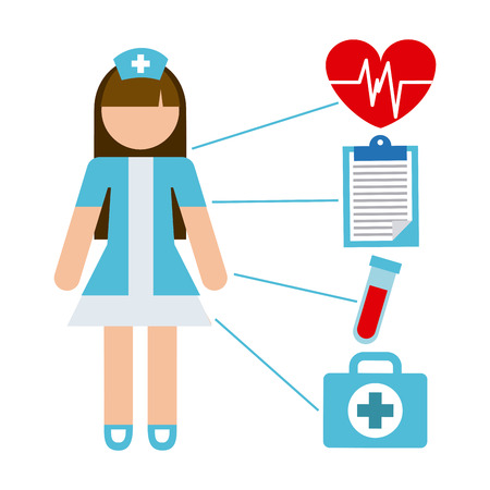 nurse clipboard: nurse concept design, vector illustration eps10 graphic