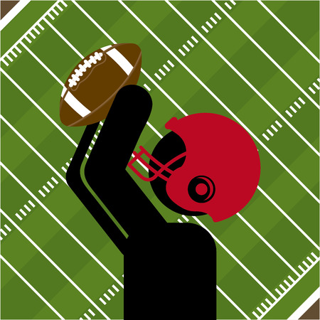 american football helmet set: design, vector illustration eps10 graphic Illustration