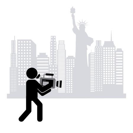 cameraman: cameraman icon design, vector illustration eps10 graphic Illustration