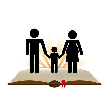 holy family: catholic religion design, vector illustration eps10 graphic