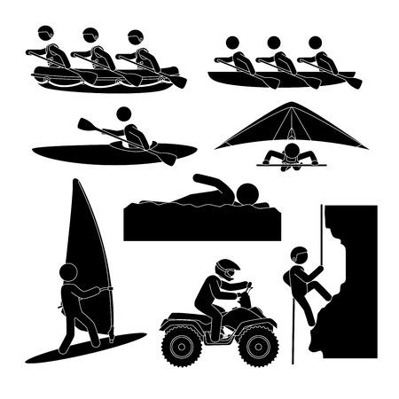 Extreme sports design over white background, vector illustration.