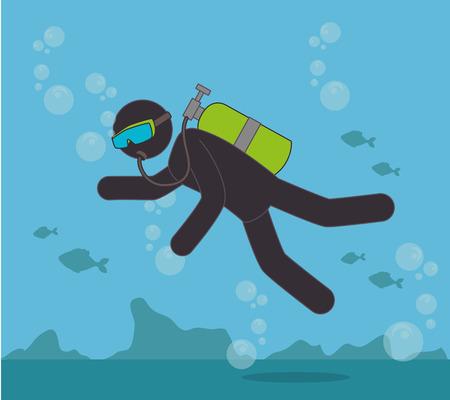 Extreme sports design over blue background, vector illustration.