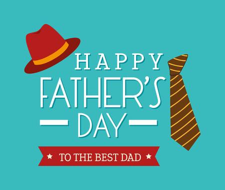 幸せな父親の日カードのデザイン、ベクトル図です。  イラスト・ベクター素材