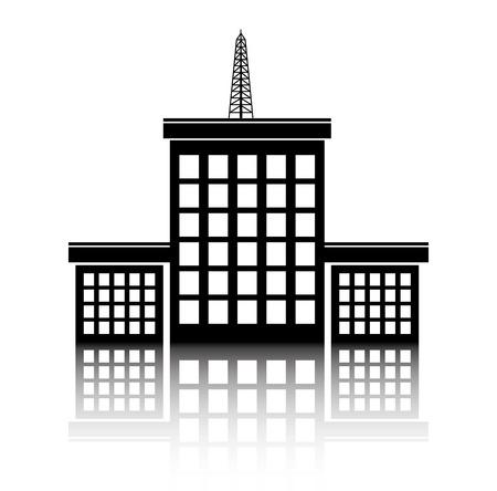 land development: Urban design over white background, vector illustration.