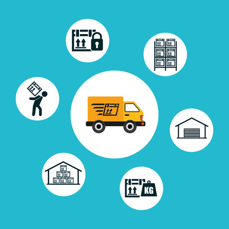 delivery service design, vector illustration eps10 graphic Vector