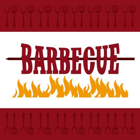 köstliches Barbecue Design, Vector Illustration eps10 Grafik