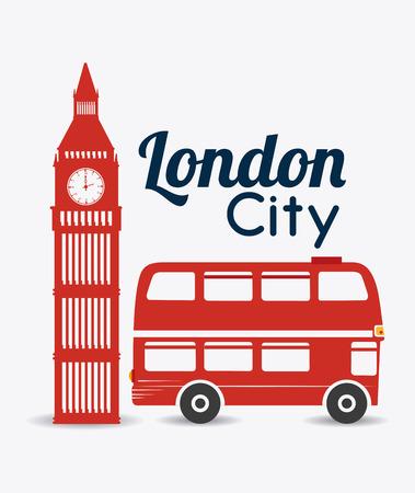 urbanisierung: London Design auf wei�em Hintergrund, Vektor-Illustration.