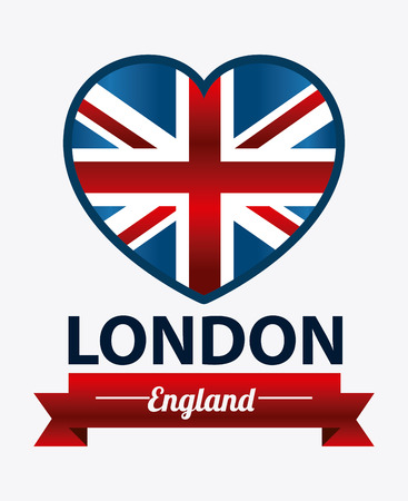 urbanization: London design over white background, vector illustration.