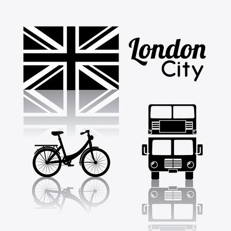 London design over white background, vector illustration. Vector