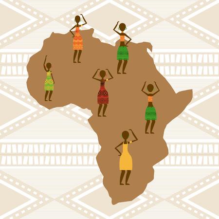 Conception de la culture africaine, vecteur illustration graphique eps10 Banque d'images - 38782100