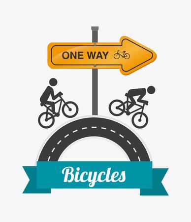 singpost: Bike design over white background, vector illustration.