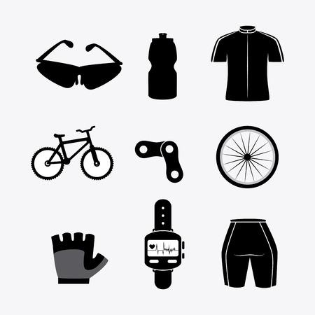 biking glove: Bike design over white background, vector illustration.