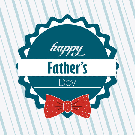 happy fathers day card: Happy fathers day card design, vector illustration.