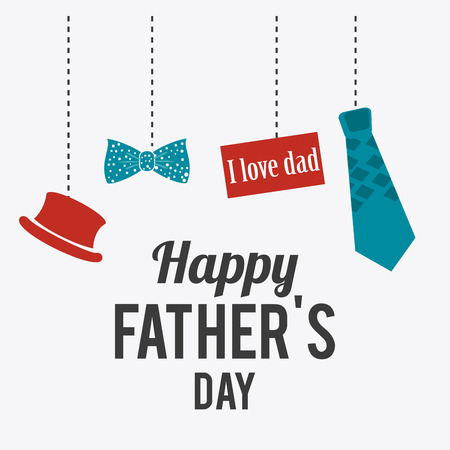 Happy fathers day card design, vector illustration. Фото со стока - 38783403