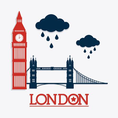 bigben: London design over white background, vector illustration.
