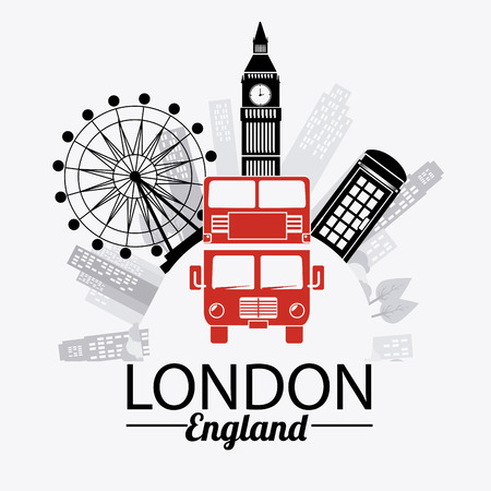 bigben: London design over white background, vector illustration.