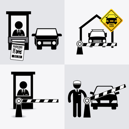 a lot  of: Parking design over white background, vector illustration.