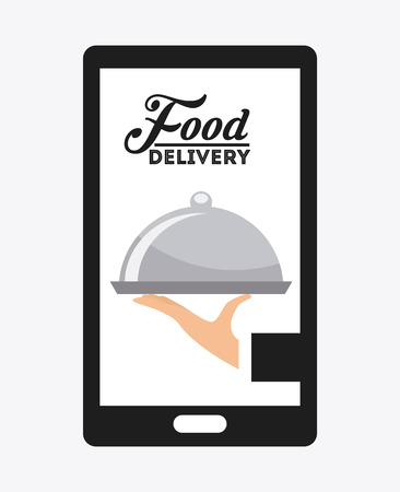 waiter tray: food delivery design, vector illustration eps10 graphic Illustration
