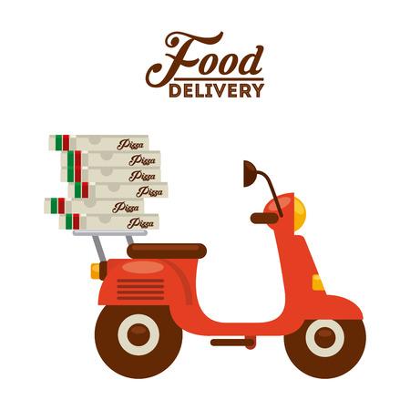 food delivery design, vector illustration eps10 graphic Ilustrace