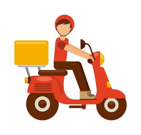 delivery driver: food delivery design, vector illustration eps10 graphic Illustration