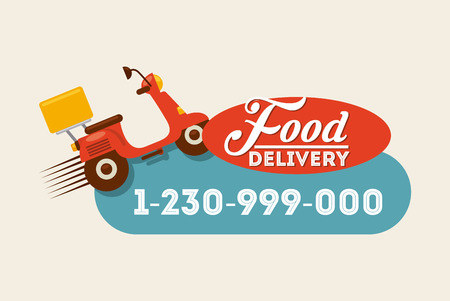 jedzenie: Jedzenie projekt dostawa, ilustracji wektorowych eps10 grafiki Ilustracja