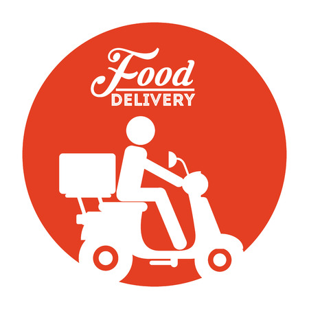 eating fast food: food delivery design, vector illustration eps10 graphic Illustration