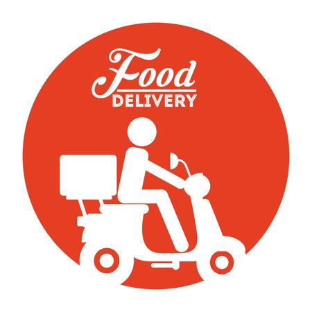 Lebensmittel-Lieferservice Design, Vector Illustration eps10 Grafik Illustration