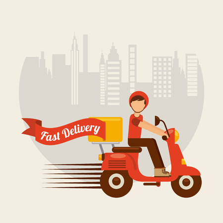 fast foods: food delivery design, vector illustration eps10 graphic Illustration