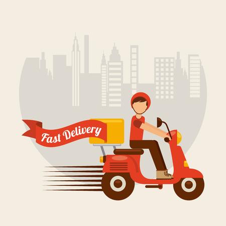 voedsel levering ontwerp, vectorillustratie eps10 grafische Stock Illustratie