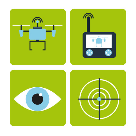drone technology design, vector illustration eps10 graphic Vectores