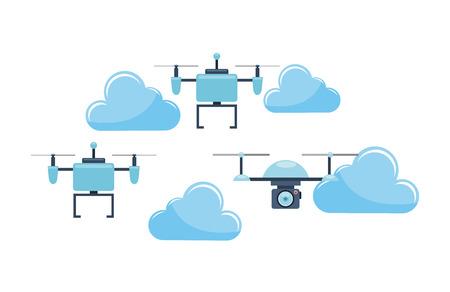 unmanned: drone technology design, vector illustration eps10 graphic Illustration